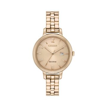 Citizen Eco Drive Stainless Steel Brown Dial 31 mm Women's Watch
