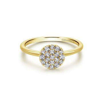 Gabriel & Co. 14k Yellow Gold Diamond Wedding Band