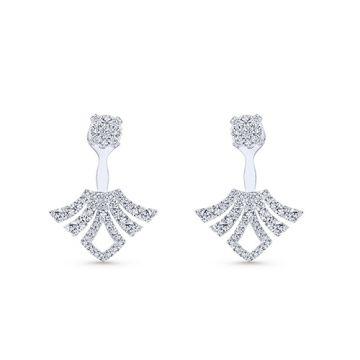 Gabriel & Co. 14k White Gold Diamond Peek a Boo Earrings