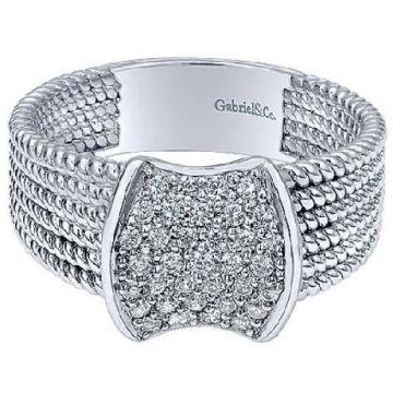 Gabriel & Co. 14k White Gold Diamond Ring