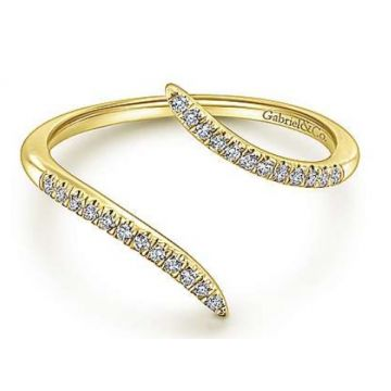 Gabriel & Co. 14k Yellow Gold Diamond Ring