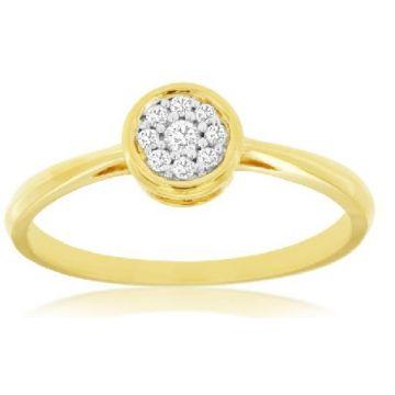 14 Karat Yellow Gold Cluster Ring 180-11292