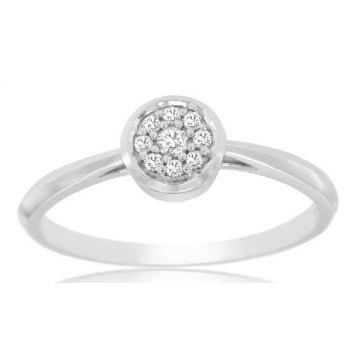 14 Karat White Gold Cluster Ring 180-11295