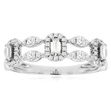 14 Karat White Gold Diamond Ring 1180-11305