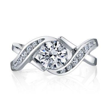 Mark Schneider 14k Gold Engagement Ring