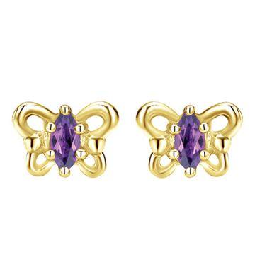 Gabriel & Co. 14k Yellow Gold Secret Garden Diamond and Gemstone Stud Earrings
