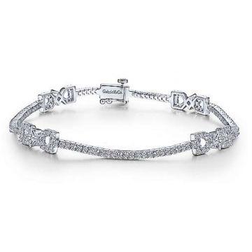 Gabriel & Co. 14k White Gold Diamond Tennis Bracelet