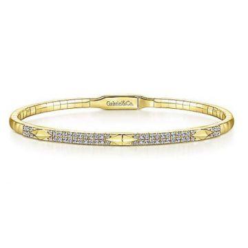 Gabriel & Co. 14k Yellow Gold Diamond Bangle Bracelet