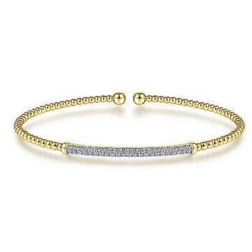 Gabriel & Co. 14k Yellow Gold Diamond Cuff Bracelet