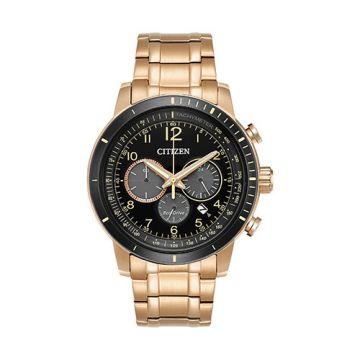 Citizen Eco Drive Stainless Steel Black Dial 44 mm Men's Watch