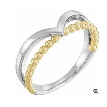 Stuller 14 Karat Two Tone Metal Fashion Ring 501-10006