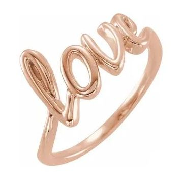 "Stuller 14 Karat Rose Gold ""Love"" Ring 501-10016"