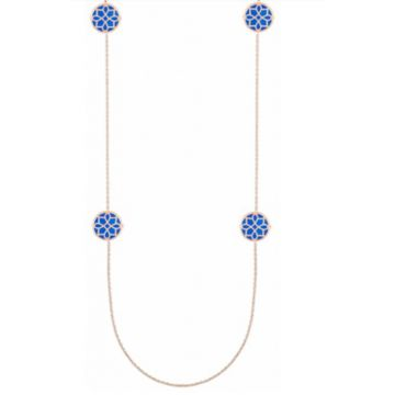 SJ Collection 14 Karat Yellow Gold Enamel Necklace 502-10101