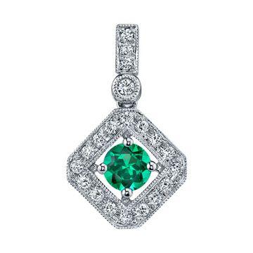 Stanton Color 14k Gold Emerald Pendant