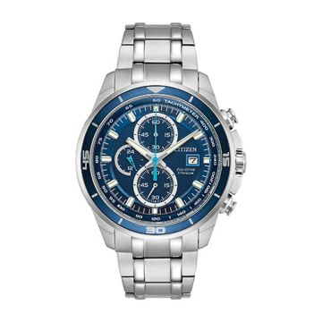 Citizen Eco Drive Stainless Steel Blue Dial 43 mm Men's Watch