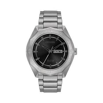 Citizen Eco Drive Titanium Black Dial 44 mm Men's Watch