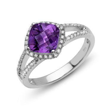 Stanton Color 14k Gold Amethyst Ring