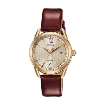 Citizen Drive Stainless Steel Champagne Dial 36 mm Women's Watch