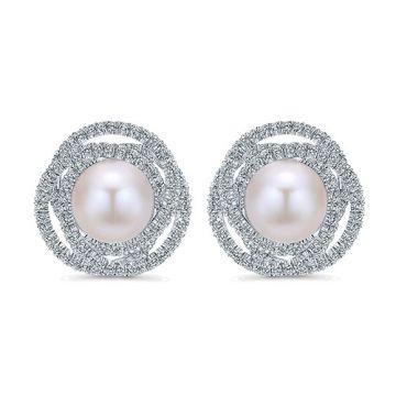Gabriel & Co. 14k White Gold Diamond Stud Earrings