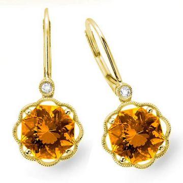 Stanton Color 14k Gold Citrine Leverback Earrings