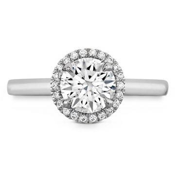 Hearts on Fire Platinum Juliette Halo Engagement Ring