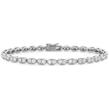 Hearts on Fire 3.2 ctw. Lorelei Floral Diamond Line Bracelet - L in 18K White Gold
