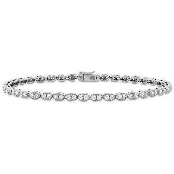 Hearts on Fire 1.95 ctw. Lorelei Floral Diamond Line Bracelet - S in 18K Rose Gold