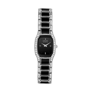 Citizen Eco Drive Stainless Steel Black Dial 21 mm Women's Watch