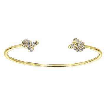 Gabriel & Co. 14k Yellow Gold Byblos Diamond Bangle Bracelet