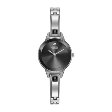Citizen Eco Drive Stainless Steel Black Dial 23x18 mm Women's Watch