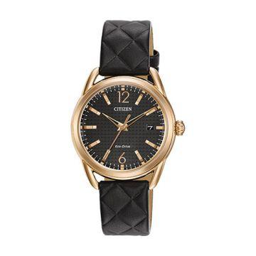 Citizen Drive Stainless Steel Black Dial 36 mm Women's Watch