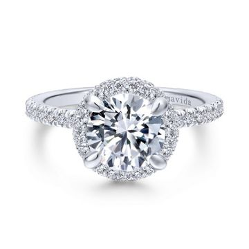 Gabriel & Co. 14k White Gold Contemporary Diamond Engagement Ring