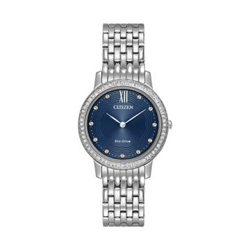 Citizen Eco Drive Stainless Steel Black Dial 29 mm Women's Watch