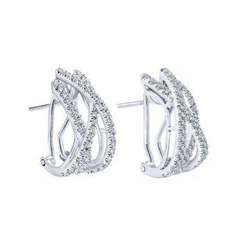 Gabriel & Co. 14k White Gold Diamond Drop Earrings