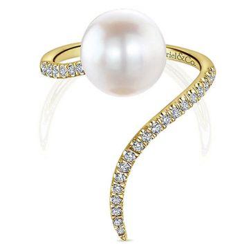 Gabriel & Co. 14k Yellow Gold Grace Diamond and Gemstone Ring