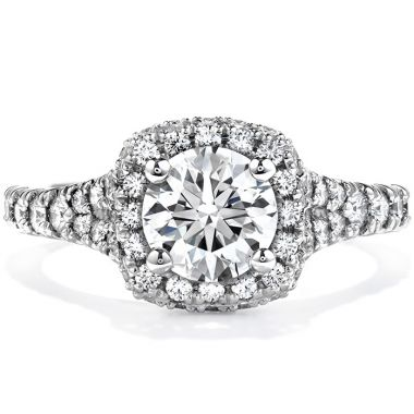 Hearts on Fire 0.85 ctw. Acclaim Engagement Ring in 18K White Gold