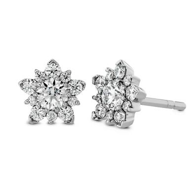 Hearts on Fire 1.25 ctw. Aerial Cluster Stud Earrings in 18K Rose Gold