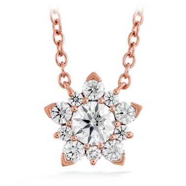 Hearts on Fire 0.4 ctw. Aerial Cluster Pendant in 18K Rose Gold