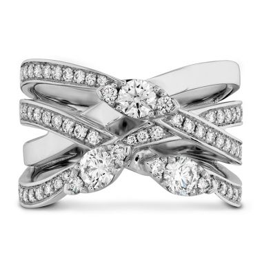 Hearts on Fire 0.85 ctw. Aerial Diamond Right Hand Ring in 18K Rose Gold