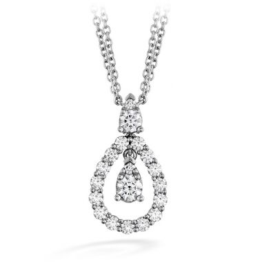 Hearts on Fire 0.8 ctw. Aerial Diamond Drop Necklace in 18K White Gold