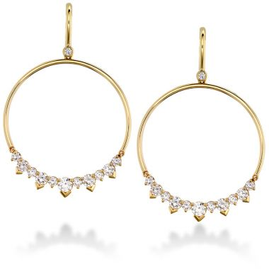 Hearts on Fire 2.4 ctw. Aerial Eclipse Earrings in 18K Yellow Gold