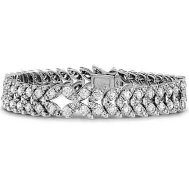 Hearts on Fire 10.5 ctw. Aerial Diamond Bracelet in 18K White Gold