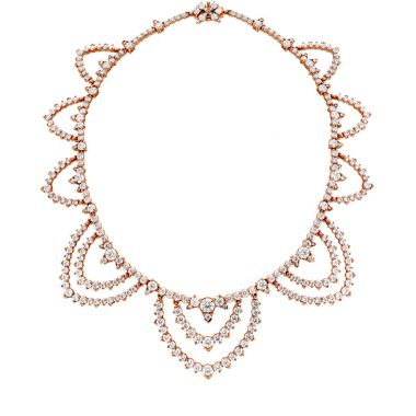 Hearts on Fire 40.95 ctw. Aerial Diamond Collar in 18K Rose Gold