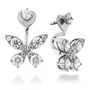 Hearts on Fire 1.15 ctw. Aerial Diamond Earrings in 18K White Gold