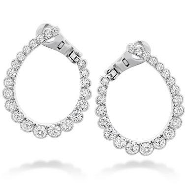 Hearts on Fire 2.1 ctw. Aerial Regal Diamond Hoop Earrings in 18K Yellow Gold