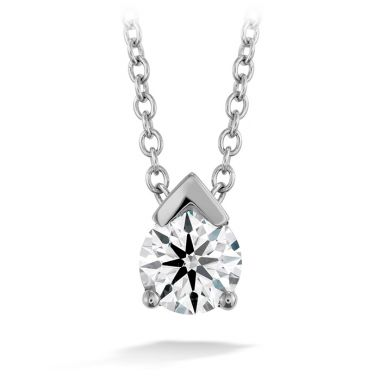 Hearts on Fire 0.5 ctw. Aerial Single Diamond Pendant in 18K White Gold