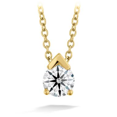 Hearts on Fire 0.1 ctw. Aerial Single Diamond Pendant in 18K Yellow Gold