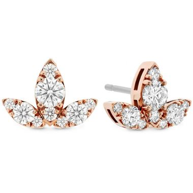 Hearts on Fire 1.15 ctw. Aerial Triple Diamond Stud Earrings - L in 18K Rose Gold