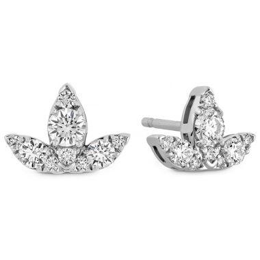 Hearts on Fire 0.6 ctw. Aerial Triple Diamond Stud Earrings - S in 18K Rose Gold