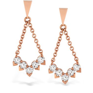 Hearts on Fire 0.8 ctw. Aerial Diamond V Drop Earrings in 18K Yellow Gold